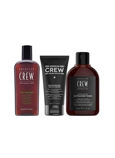 American Crew Groomıng Kit (Krem+Tonik+3-In-1 Tea) Renksiz